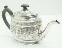 Antique Solid Silver Tea Pot Early Victorian Silver c.1849 (5 of 7)