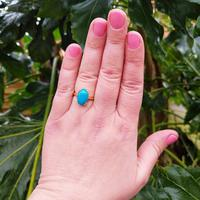Vintage 18ct Yellow Gold & Turquoise Solitaire Ring (7 of 7)