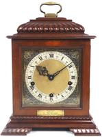 Vintage English Westminster Chime Bracket Clock – Solid Mahogany Musical Mantel Clock (10 of 10)