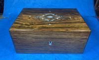 Victorian Rosewood Jewellery Box with Inlay (11 of 14)