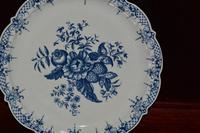 18th Century - First Period - Worcester Blue & White Pine Cone Pattern Dish (8 of 8)