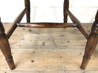 Pair of Antique Elm Farmhouse Kitchen Chairs (5 of 8)