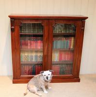 Late 19th Century Glazed Two Door Bookcase (7 of 7)