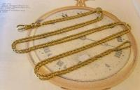 Edwardian Ladies Pocket Watch Guard Chain 1900 Antique 12 Gold Filled (2 of 10)