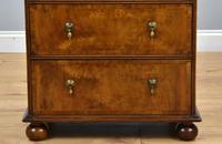 Queen Anne Style Burr Walnut Chest of Drawers (6 of 8)