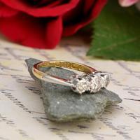 The Victorian 1895 Old Cut Three Diamond Ring (5 of 5)