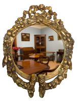 Continental Carved Giltwood Circular Wall Mirror c1900 (6 of 6)