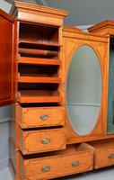 Stunning Victorian Satinwood & Marquetry Compactum Wardrobe (7 of 24)