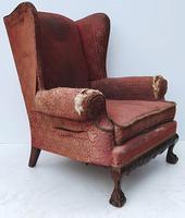 Irish Chippendale Design 19th Century Mahogany Wing Back Armchair (2 of 9)