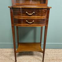 Quality Tall Slim Mahogany Victorian Antique Bookcase (4 of 8)