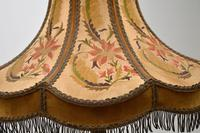 Antique Carved Mahogany Floor Lamp with Needlepoint Shade (6 of 10)