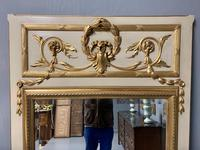 Large French Paint & Gilt Trumeau Mirror (9 of 11)