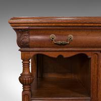 Large Antique Dresser Base, Scottish, Oak, Buffet, Server, Late Victorian, 1880 (9 of 12)