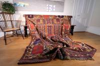 Large Mid 20th Century Colourful Flat Weave Woolen Rug (2 of 15)