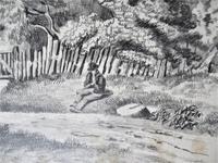 John Berney Ladbrooke Attributed Norwich School c.1860, Fine Large Sketch (3 of 6)