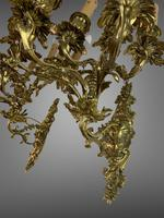 Pair of Stunning Huge 7 Arm French Rococo Style Gilt Bronze Wall Lights Sconces (7 of 9)