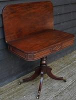 Elegant Regency Mahogany D-end Tea Table c.1820 (3 of 11)