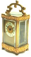 Fine Antique French 8-day Serpentine Fleur De Lis Decorated Panel 8-day Carriage Clock Timepiece c.1890 (4 of 10)