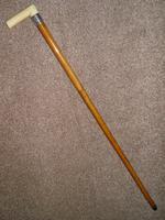 Victorian Hallmarked 1891 Silver Malacca Walking Stick 92cm (2 of 11)