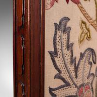 Antique Needlepoint Fire Screen, English, Mahogany, Fireside Guard, Regency (10 of 12)
