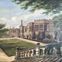 Antique Oil Painting Study of Haddon Hall Derbyshire Signed A E Richmond 1882 (4 of 9)