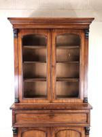 Victorian Mahogany Secretaire Bookcase (3 of 12)