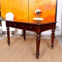 Desk Writing Table Mahogany 19th Century Victorian (8 of 11)