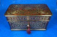 Victorian French Tortoiseshell Twin Canister Tea Caddy (4 of 17)