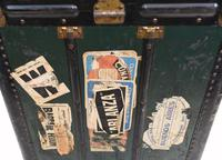 Vintage Steamer Trunk Luggage Case Harrison and  Co New York (3 of 28)