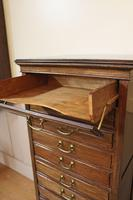 Edwardian Walnut Sheet Music Cabinet. Document Chest of Drawers (3 of 9)