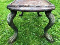 French 18th Century Georgian Grand Tour Garden Cast Iron Plinth Table Claw Feet (26 of 33)