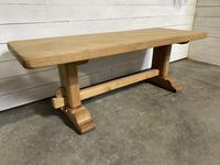 French Bleached Oak Farmhouse Table Nice Thick Top (3 of 14)