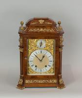 Fine Quality Burr Walnut Bracket / Mantel Clock by Lenzkirch (5 of 15)