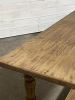 Nice Large Bleached Oak Farmhouse Dining Table With Extensions (11 of 35)