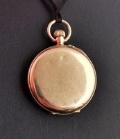 Antique 9ct Gold Half Hunter Pocket Watch, Blue Enamel (13 of 14)