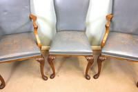 Set of Six Antique Queen Anne Style Walnut Dining Chairs (13 of 15)