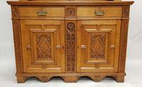 Oak Arts & Crafts Aesthetic, Cabinet Bookcase (2 of 10)