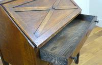 Delightful Arts & Crafts Oak Bureau (14 of 19)