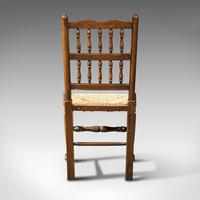 Set of 12, Antique Lancashire Chairs, Beech, Spindle Back, Seat, Edwardian, 1910 (6 of 12)
