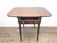 Antique Mahogany Drop Leaf Side Table (4 of 11)