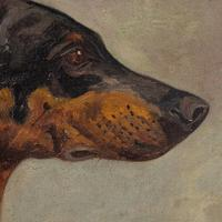 Wilhelm Westerop, Portrait of a Doberman, Oil Painting (10 of 10)