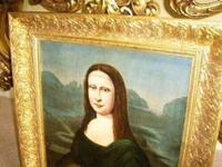 Mona Lisa Old Master 18th Century Oil Portrait Painting on Canvas after Leonardo Da Vinci (4 of 9)