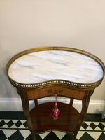 Antique French Kidney Shaped Side Table with Marble Top (2 of 10)