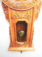 Massive Rare Antique Carved Walnut 8-Day Drop Dial Striking Wall Clock (13 of 14)