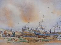 Watercolour & Ink Hastings Boats Listed Artist Valerie Sadler (10 of 10)