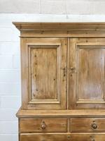 Antique Pine Cupboard with Drawers (4 of 11)