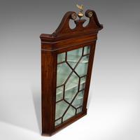 Antique Corner Cabinet, English, Mahogany, Wall, Georgian, Astragal Glaze, 1790 (10 of 12)