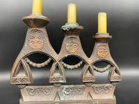 Pair of Russian Matryoshka Candlesticks