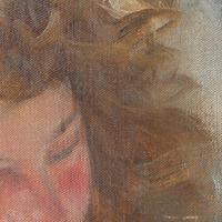 Hugo Ziegler, Study Of An Angel, Oil Painting (4 of 7)
