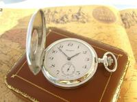 Vintage Pocket Watch 1970s Bravingtons Swiss 17 Jewel Half Hunter & Box Fwo (2 of 12)